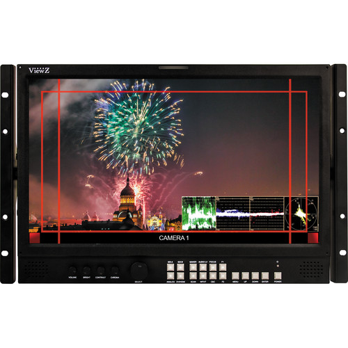 "ViewZ VZ-185RM-P 7RU 18.5"" 3G-SDI & 8-Bit Panel Video Production Rackmount Monitor"