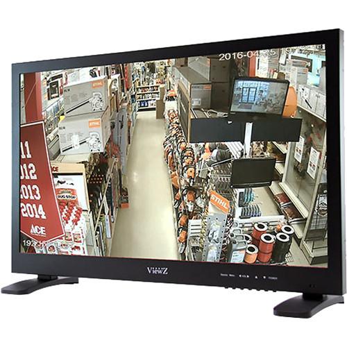 "ViewZ 27""HD 1080p LED Hybrid Metal Monitor,VGA,HDMI, Built-In USB Media Player(Black)"