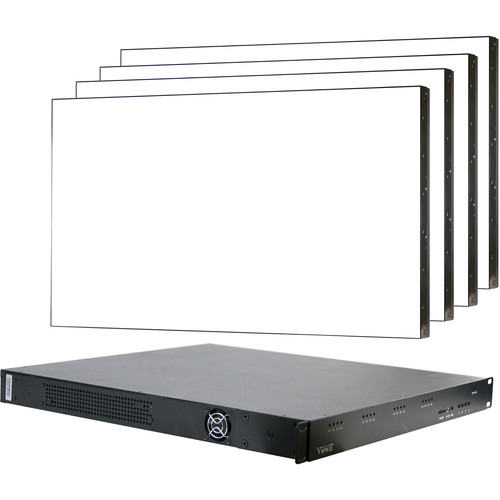 """ViewZ 49"""" Video Wall 2x2 with 8-Inputs / Multi-Viewer Configuration"""