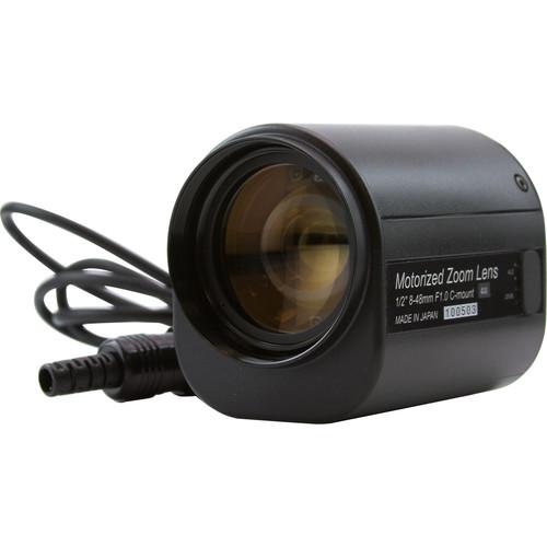 """ViewZ VZ-B6X8MAI4 1/2"""" Manual Zoom Lens for 1/2"""" and 1/3"""" Cameras"""