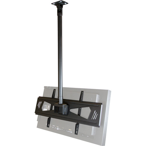 """ViewZ Ceiling Mount Kit for 37 to 70"""" CCTV & Video Wall Monitors (35.4"""" Rod)"""