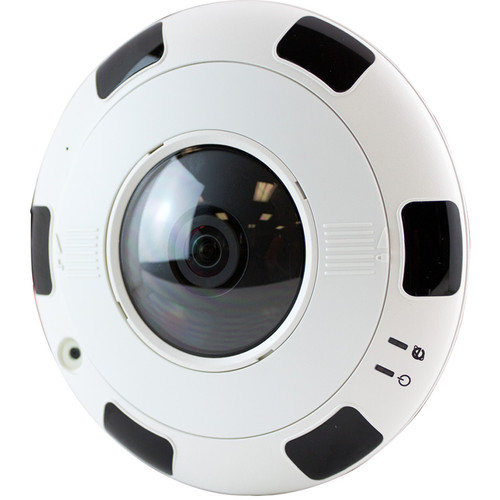 ViewZ VZ-FE-1 6MP Fisheye Network Dome Camera with 1.6mm Lens and Night Vision