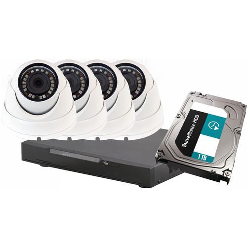 ViewZ VZ-HD4FD 2.1 MP HD Mini Dome 1TB DVR Camera Kit