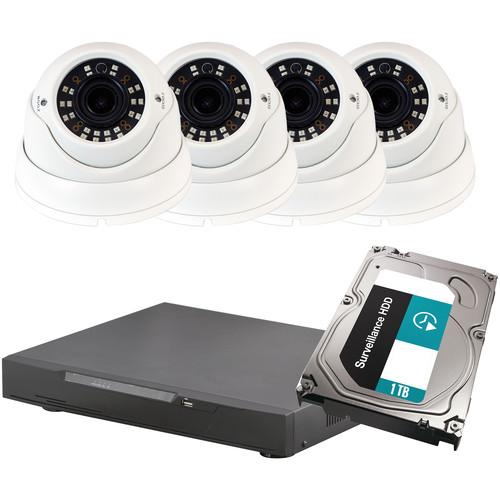 ViewZ VZ-HD4VD 2.1 MP HD Varifocal Dome 1TB DVR Camera Kit
