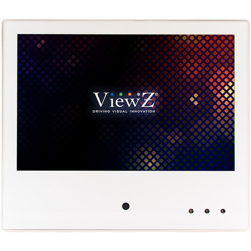 "ViewZ VZ-PVM-I1W4 10.1"" IP HD Public View LED-Backlit Monitor with Built-In Camera (White)"