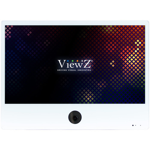 "ViewZ VZ-PVM-I2W3N 23.6"" 1080p IP Public View Monitor with Ethernet (White)"