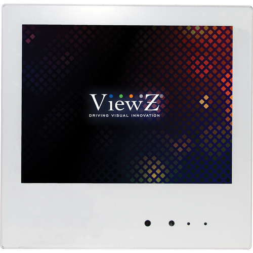 "ViewZ VZ-PVM-Z1W2 9.7"" Public View LED-Backlit CCTV Monitor with Embedded Camera"