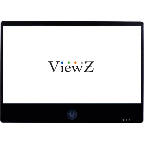 "ViewZ VZ-PVM-Z2B3 23"" Full HD Widescreen LED Backlit Monitor with Built-In 1.3MP Camera (Black)"