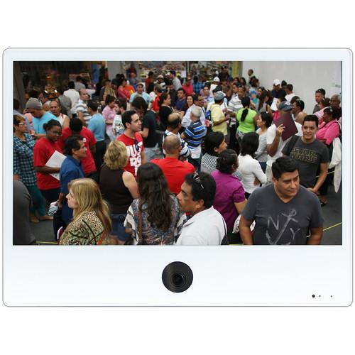 """ViewZ VZ-PVM-Z2W3N 23.6"""" 1080p Public View Monitor (White)"""