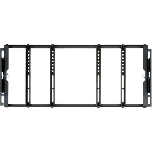 "ViewZ VZ-RMK08 Single & Dual Universal Rack Mount for 8 to 24"" LCD Displays (Black)"