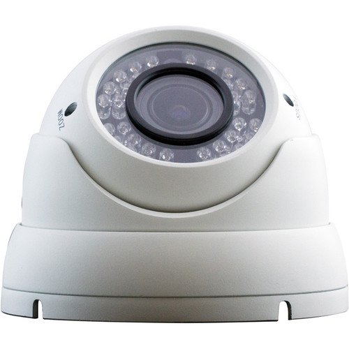 ViewZ 2.1MP AHD Outdoor Dome Camera with 2.8-12mm Varifocal Lens and Night Vision
