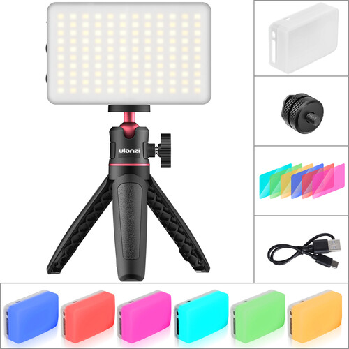 VIJIM Tabletop LED Video Lighting Kit (Single, Black)