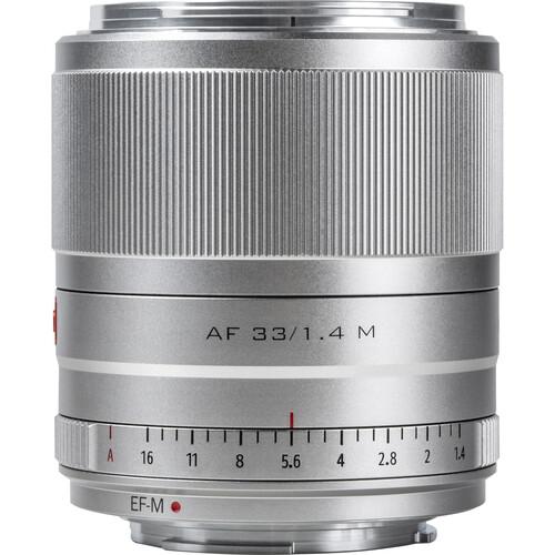 Viltrox AF 33mm f/1.4 M Lens for Canon EF-M (Silver)