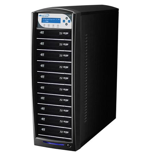 Vinpower Digital SharkBlu Blu-ray/DVD/CD Daisy-Chainable Tower Duplicator (HDD to 10-Target)