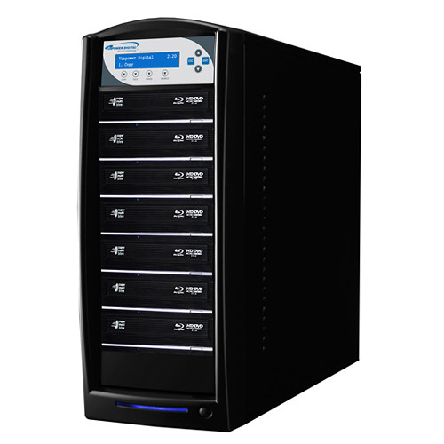 Vinpower Digital SharkBluCP Blu-ray/DVD/CD Tower Duplicator with Multi-File Copy Protection (HDD to 7-Target)