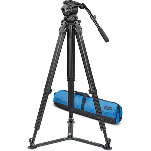 Vinten System Vision 10AS with flowtech 100 Carbon Fiber Tripod, Ground Spreader & Case