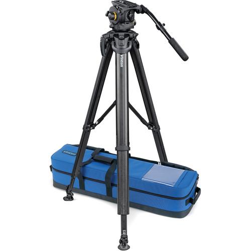 Vinten Vision 100 System with flowtech 100 Legs, Mid-Level Spreader & Case