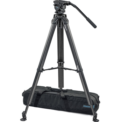 Vinten System Vision blue5 Head with Flowtech 75 Carbon Fiber Tripod, Mid-Level Spreader, and Rubber Feet