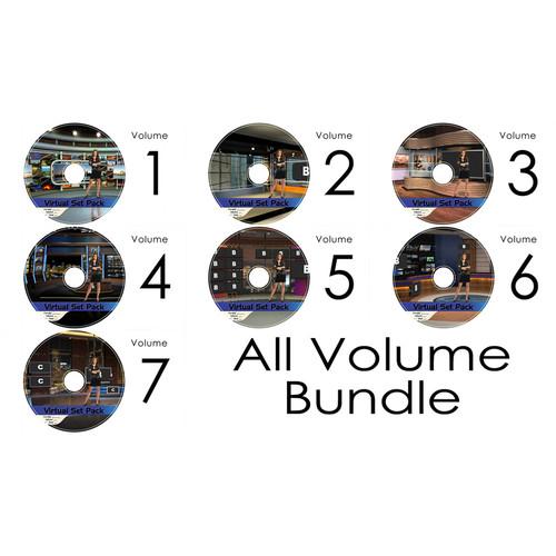 Virtualsetworks Virtual Set Pack 1-7 Kit for TriCaster Virtual Set Editor (Download)