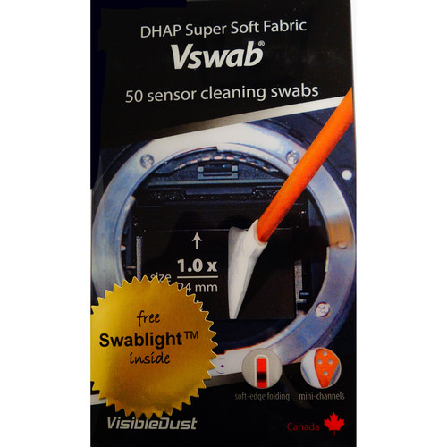 VisibleDust DHAP Sensor Cleaning VSwabs (1.0x/24mm-Wide, 50-Pack)