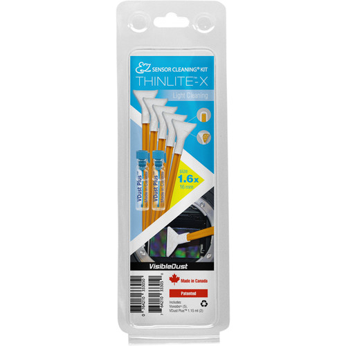VisibleDust EZ Sensor Cleaning Kit THINLITE-X Light Cleaning with 2 Bottles of VDust Plus and 5 Orange DHAP Vswabs