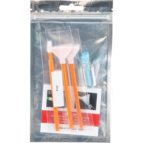 VisibleDust EZ Sensor Cleaning Kit Mini with 1.0x Orange DHAP Vswabs and VDust Plus