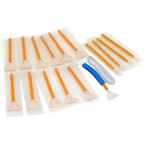 VisibleDust DHAP Orange 1.3x Vswabs, Corner Swabs, and CurVswab Handle Set