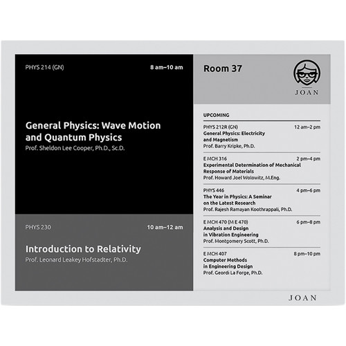 """Visionect JOAN Classroom 13.3"""" E Ink Carta Electronic Paper Screen (Gray)"""