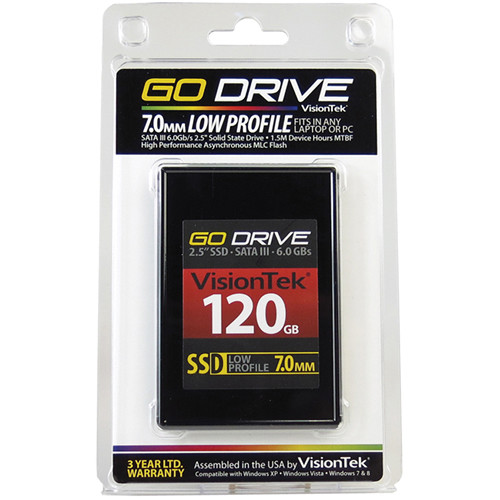 VisionTek Go Drive Low Profile 7mm SSD (120GB)