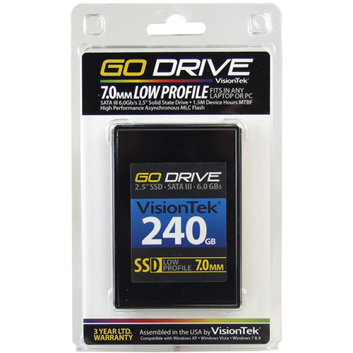 VisionTek Go Drive Low Profile 7mm SSD (240GB)