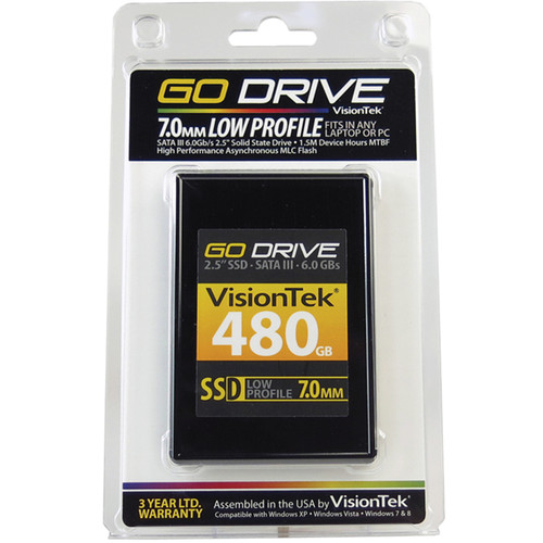 VisionTek Go Drive Low Profile 7mm SSD (480GB)
