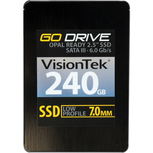 VisionTek Go Drive Low Profile 7mm Opal 1.0 Encryption Ready SSD (240GB)