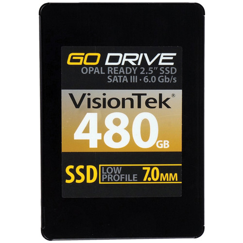 VisionTek Go Drive Low Profile 7mm Opal 1.0 Encryption Ready SSD (480GB)