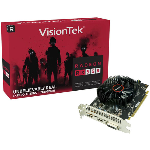 VisionTek Radeon RX 550 Graphics Card