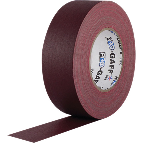 "Visual Departures Gaffer Tape - 2"" x 55 Yards (Burgundy)"