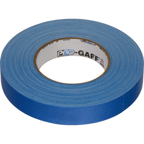 """Visual Departures Gaffer Tape - 1"""" x 55 Yards (Electric Blue)"""