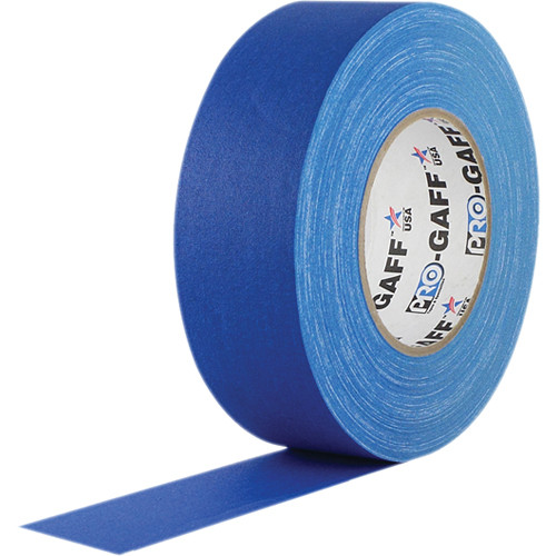 """Visual Departures Gaffer Tape - 2"""" x 55 Yards (Electric Blue)"""