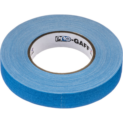 "Visual Departures Gaffer Tape (Fluorescent Blue, 1"" x 50 Yards)"