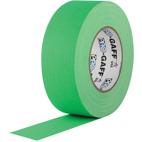 "Visual Departures Gaffer Tape (Fluorescent Green, 2"" x 50 Yards)"
