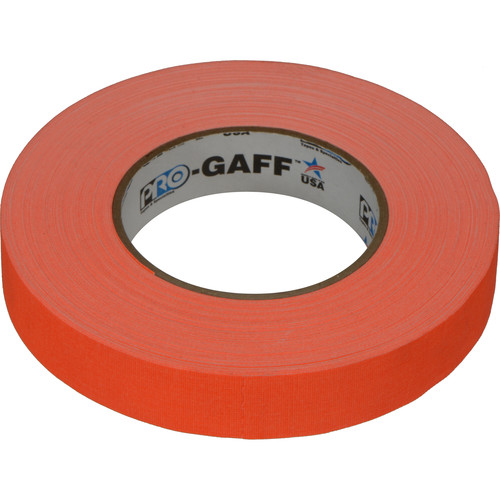 "Visual Departures Gaffer Tape (Fluorescent Orange, 1"" x 50 Yards)"