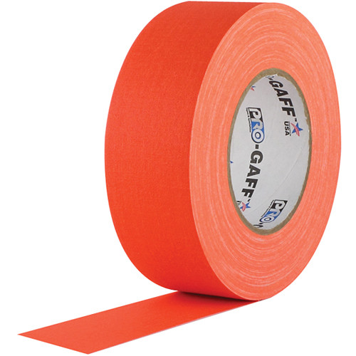 "Visual Departures Gaffer Tape (Fluorescent Orange, 2"" x 50 Yards)"