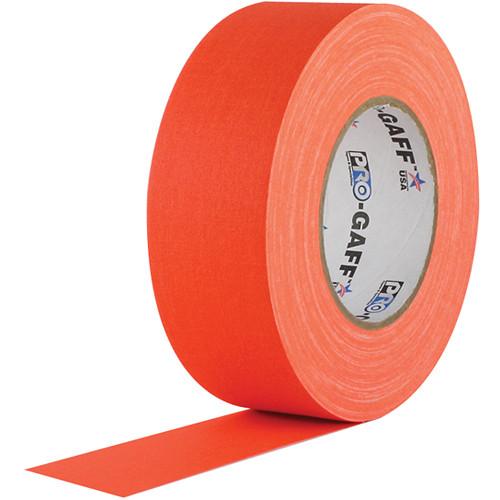 "Visual Departures Gaffer Tape (Fluorescent Orange, 2"" x 50 Yards)"