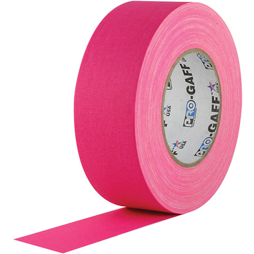 "Visual Departures Gaffer Tape (Fluorescent Pink, 2"" x 50 Yards)"