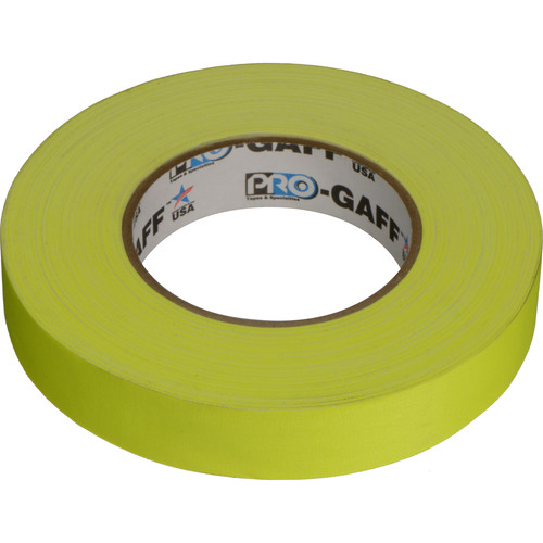 """Visual Departures Gaffer Tape (Fluorescent Yellow, 1"""" x 50 Yards)"""