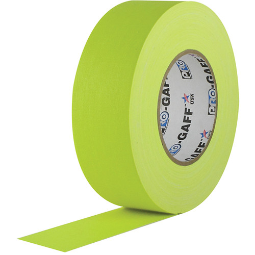 "Visual Departures Gaffer Tape (Fluorescent Yellow, 2"" x 50 Yards)"
