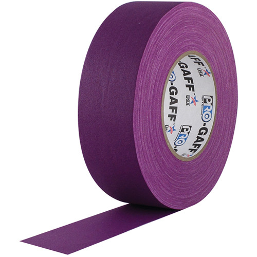 "Visual Departures Gaffer Tape - 2"" x 55 Yards (Purple)"