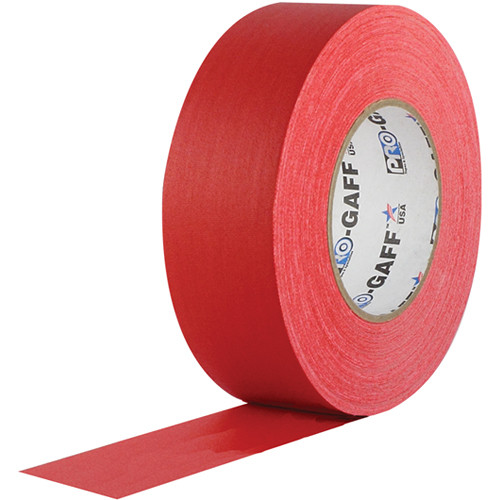 """Visual Departures Gaffer Tape - 2"""" x 55 Yards (Red)"""