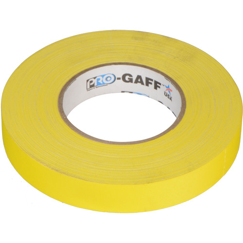 "Visual Departures Gaffer Tape - 1"" x 55 Yards (Yellow)"