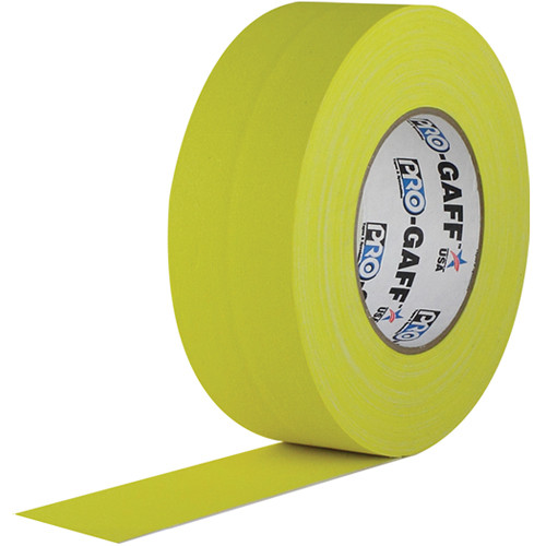 "Visual Departures Gaffer Tape - 2"" x 55 Yards (Yellow)"