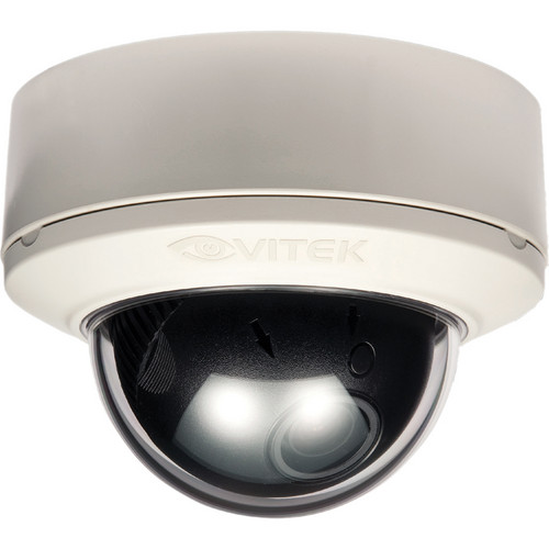 Vitek VTD-MP1850DN/WHT Indoor Mighty Dome Day / Night Camera (White, NTSC)